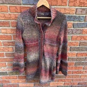 PrAna Amber Snap Ombré Knit Wool Cardigan Sweater